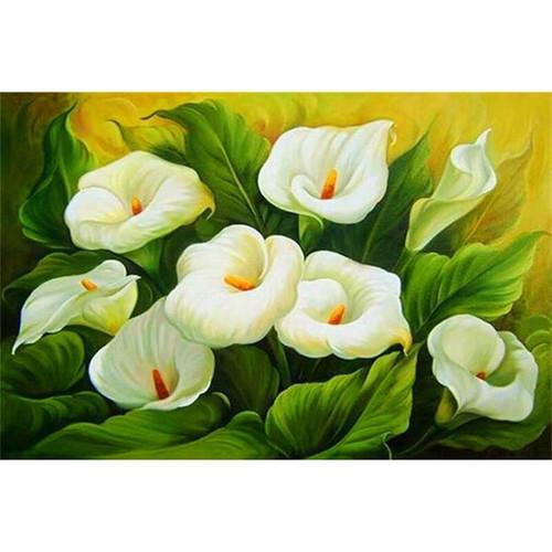 5D Diamond Painting White Calla Lily Plant Kit