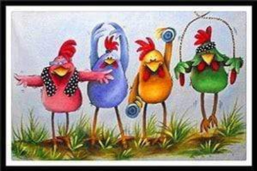 5D Diamond Painting Exercise Chickens Kit