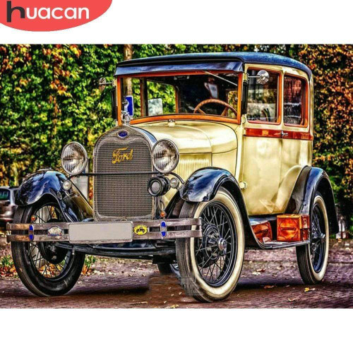 5D Diamond Painting Old Fashioned Ford Kit