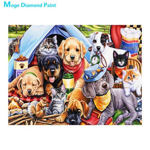 5D Diamond Painting Pets Camping Kit