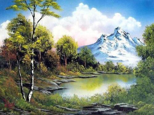 5D Diamond Painting Snowy Mountain Clouds Kit