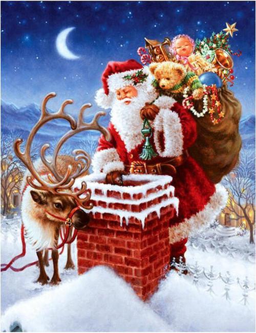 5D Diamond Painting Santa Christmas Delivery Kit
