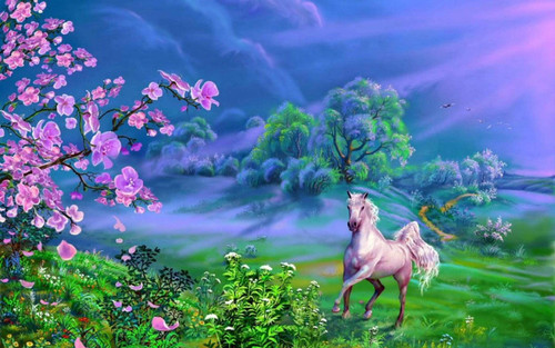 5D Diamond Painting Horse in the Meadow Kit