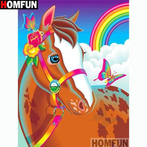 5D Diamond Painting Rainbow Bridle Horse Kit