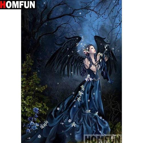 5D Diamond Painting Black Wing Angel Kit