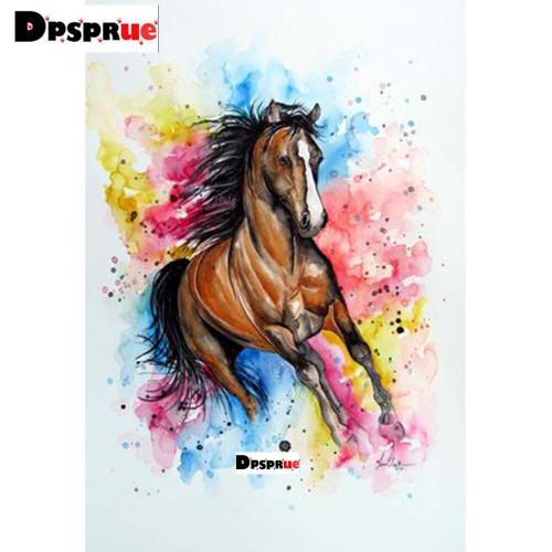 5D Diamond Painting Rainbow Paint Horse Kit