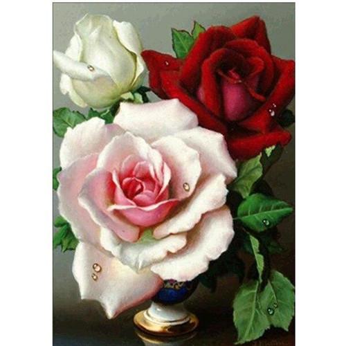 5D Diamond Painting Three Roses Kit