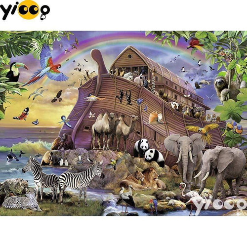 5D Diamond Painting Animals and Noah's Ark Kit