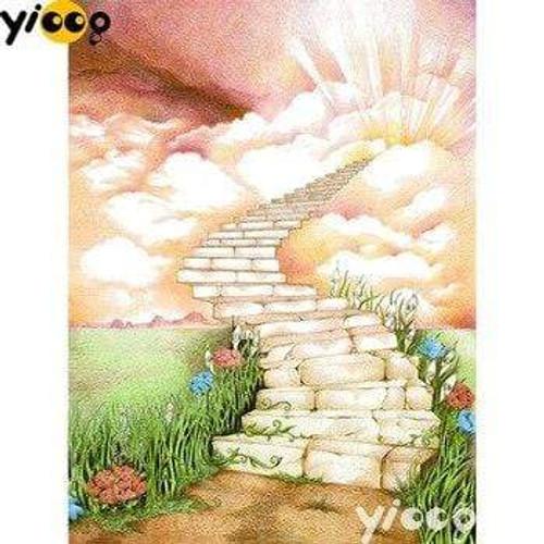 5D Diamond Painting Stone Staircase to Heaven Kit