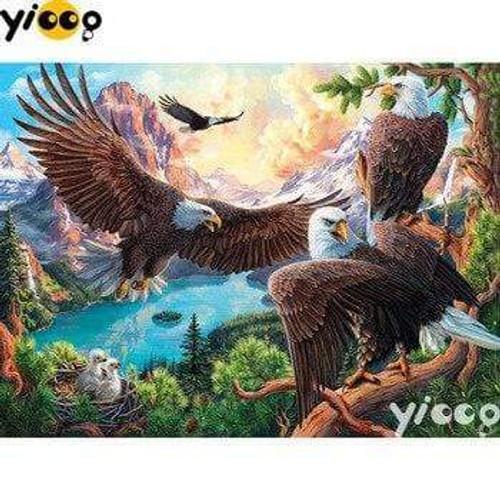 5D Diamond Painting Four Eagles Kit