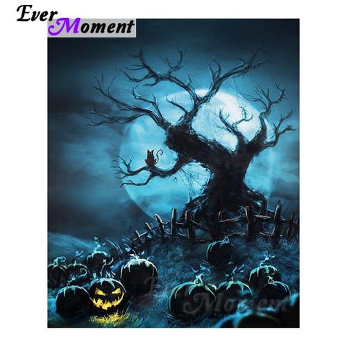5D Diamond Painting Spooky Tree Kit