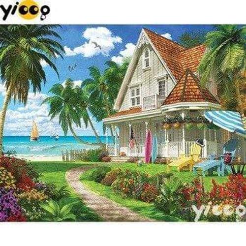 5D Diamond Painting House on the Shore Kit