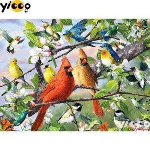 5D Diamond Painting Birds in the Trees Kit