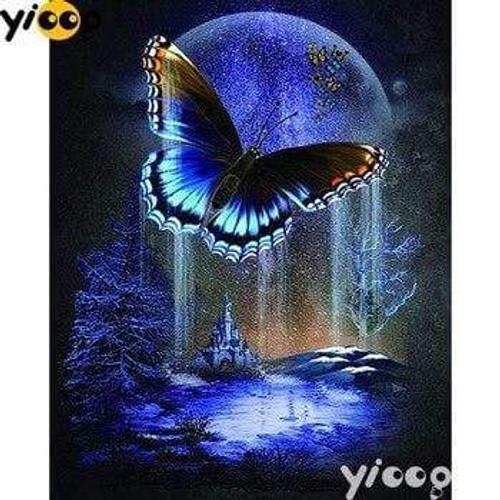 5D Diamond Painting Butterfly Moon Kit
