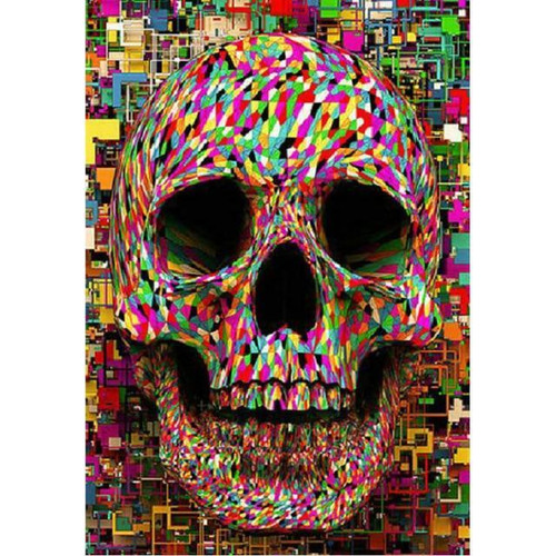 5D Diamond Painting Confetti Skull Kit