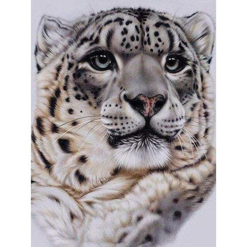 5D Diamond Painting Snow Leopard Portrait Kit