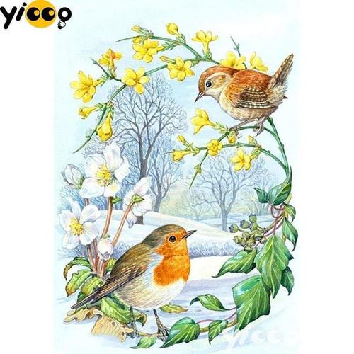 5D Diamond Painting Spring Blossom Birds Kit