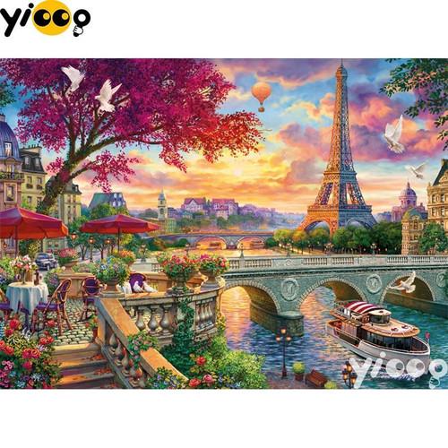 5D Diamond Painting River Seine Paris Kit