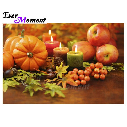 5D Diamond Painting Candles, Pumpkins and Apples Kit