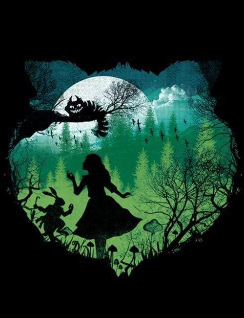 5D Diamond Painting Alice in Wonderland Silhouette Kit