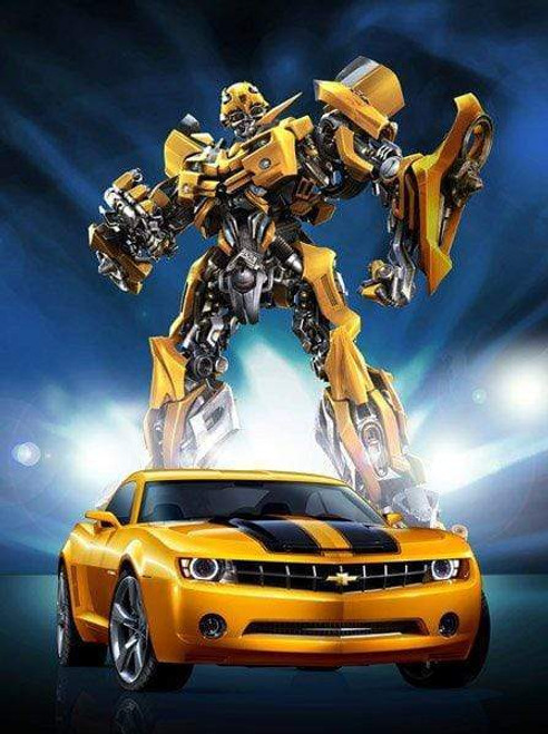 5D Diamond Painting Bumblebee From Transformers Kit