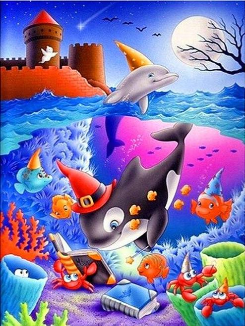 5D Diamond Painting Halloween in the Sea Kit