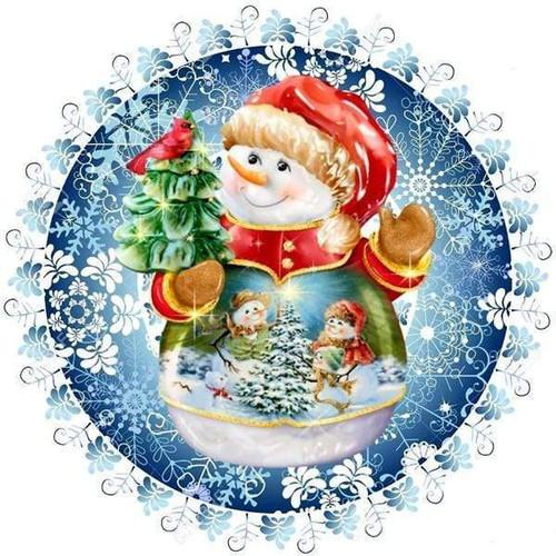 5D Diamond Painting Christmas Tree Snowman Kit
