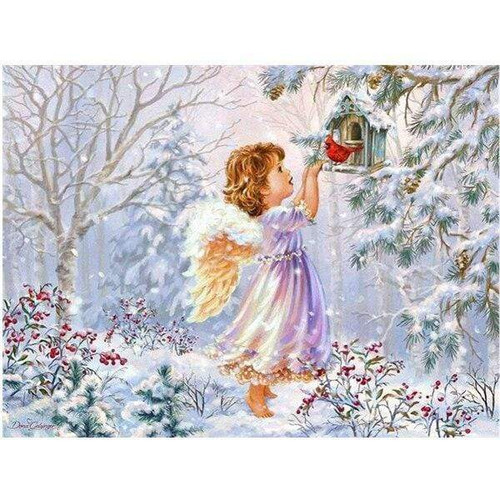 5D Diamond Painting Little Angel Cardinal Kit