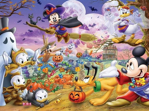 5D Diamond Painting Mickey Mouse Halloween Kit