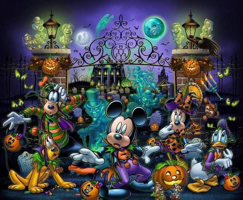 5D Diamond Painting Halloween Mickey Mouse Kit