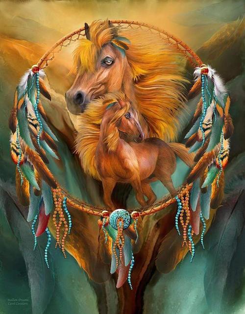 5D Diamond Painting Horse Dream Catcher Kit