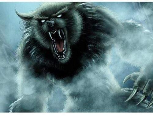 5D Diamond Painting Werewolf Smoke Kit