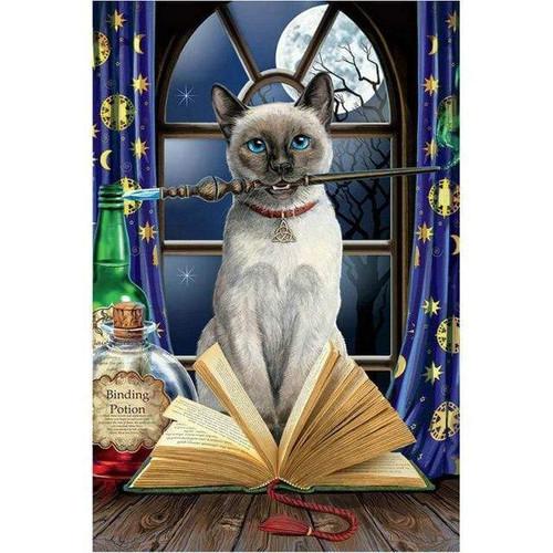5D Diamond Painting Magic Siamese Cat Kit