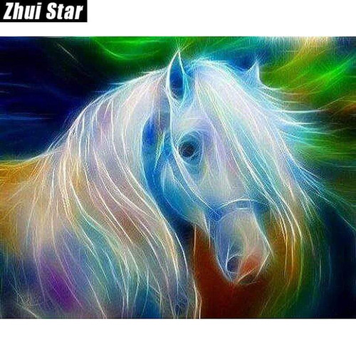5D Diamond Painting White Light Horse Kit