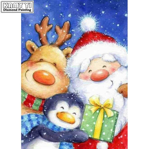 5D Diamond Painting Santa and Friends Gift Kit