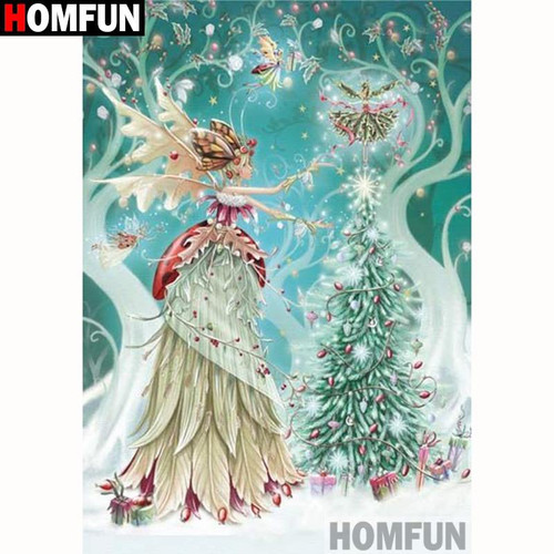 5D Diamond Painting Christmas Butterfly Fairy Kit