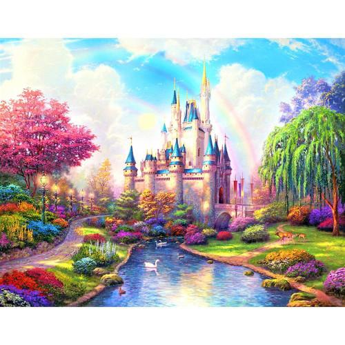 5D Diamond Painting Princess Castle Kit