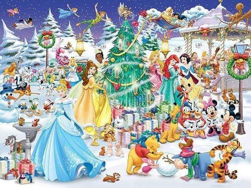 5D Diamond Painting Disney Princess Christmas Kit