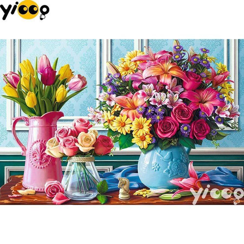 5D Diamond Painting Flower Table Kit