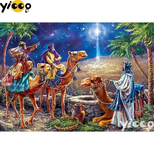 5D Diamond Painting Wisemen and the Christmas Star Kit