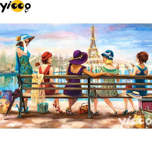 5D Diamond Painting Women in Paris Kit