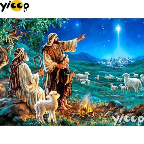 5D Diamond Painting Shepherds and the Christmas Star Kit