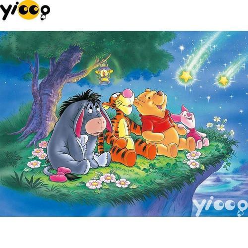 5D Diamond Painting Winnie the Pooh Shooting Stars Kit