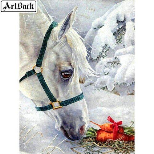 5D Diamond Painting Horse and Carrots Kit
