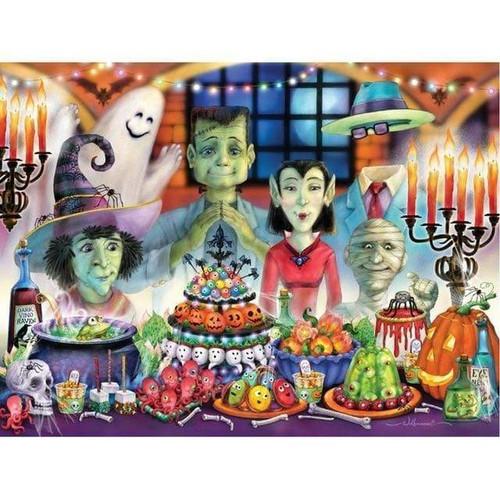 5D Diamond Painting Halloween Party Kit