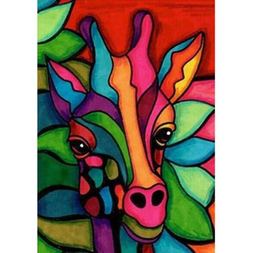 5D Diamond Painting Abstract Giraffe Face Kit