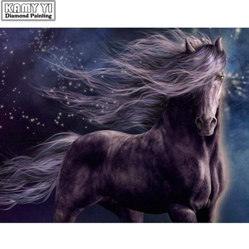 5D Diamond Painting Horse in the Wind Kit