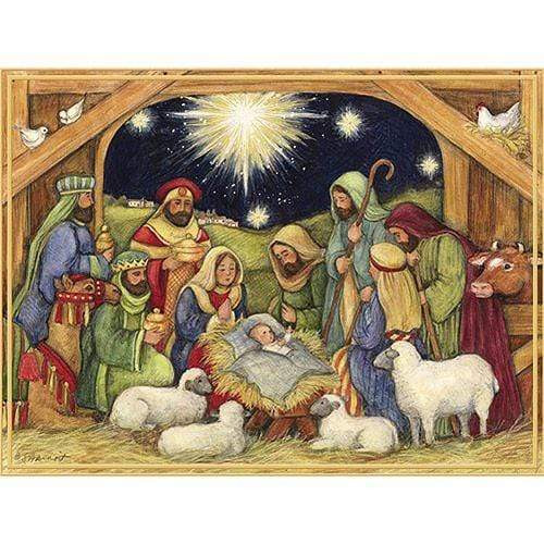 5D Diamond Painting Four Sheep Nativity Kit