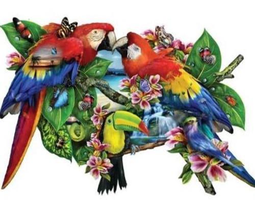 5D Diamond Painting Parrot Collage Kit
