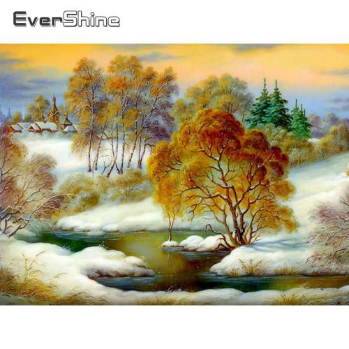 5D Diamond Painting Snowy River Bank Kit